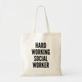 ソーシャルワーカーを働かせる懸命 トートバッグ