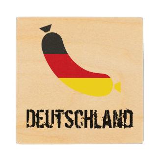 ソーセージビールコースターのドイツの旗 ウッドコースター