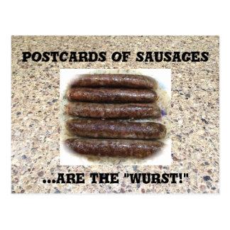 ソーセージ用挽き肉、おもしろいな食糧郵便はがき、Postcrossing、 ポストカード
