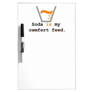 ソーダは私の心地よいの食糧です ホワイトボード