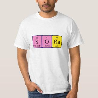 ソーラの周期表の名前のワイシャツ Tシャツ
