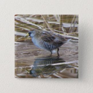 ソーラWaterbird 5.1cm 正方形バッジ