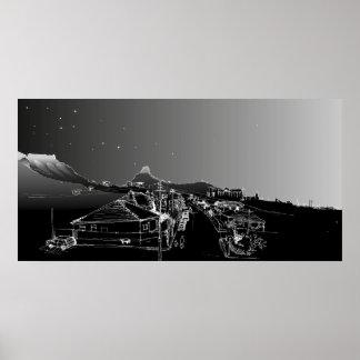 ソールズベリーRd、Woodstock、ケープタウン。 夜空 ポスター