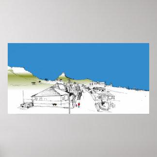 ソールズベリーRd、Woodstock、ケープタウン。 青空 ポスター