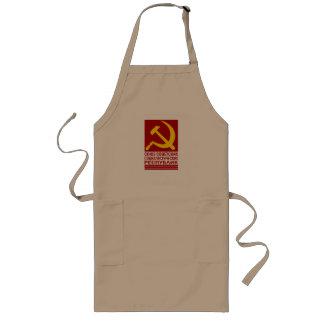 ソ連国旗とのCCCP ロングエプロン
