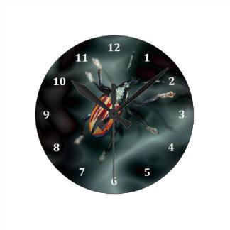 ゾウムシのカブトムシの昆虫の虫 ラウンド壁時計