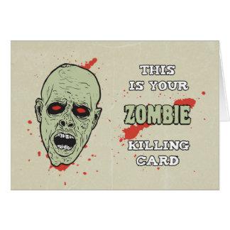 ゾンビとの誕生日のためのあなたのゾンビの殺害カード グリーティングカード