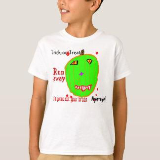 ゾンビのカボチャトリック・オア・トリート Tシャツ