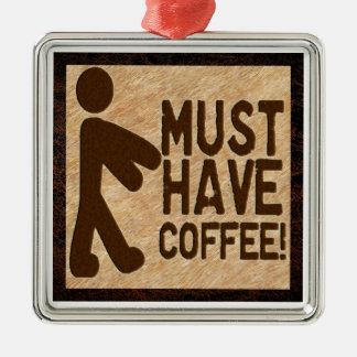 ゾンビのコーヒー メタルオーナメント