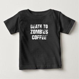 ゾンビのコーヒー(赤ん坊) Tシャツへの死 ベビーTシャツ