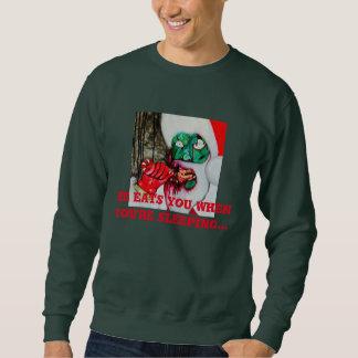 ゾンビのサンタのクリスマスのジャンパー スウェットシャツ
