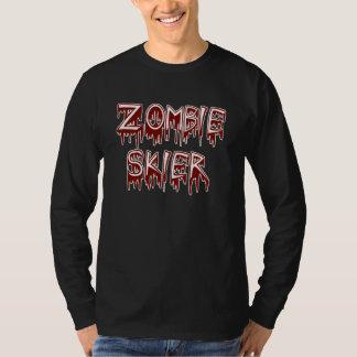 ゾンビのスキーヤー Tシャツ