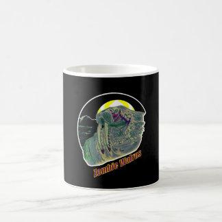 ゾンビのセイウチの黄色か紫色 コーヒーマグカップ