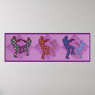 ゾンビのダンスのNavinJoshiの大判カメラ36x12の芸術 ポスター