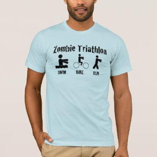 ゾンビのトライアスロンのワイシャツ-水泳、バイクおよび操業… Tシャツ