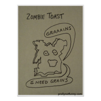 ゾンビのトースト ポスター