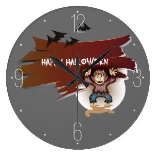 ゾンビのハッピーハローウィン ラージ壁時計