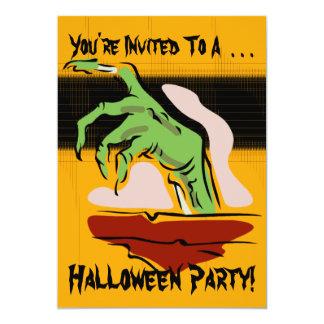 ゾンビのハローウィンパーティの招待状 カード
