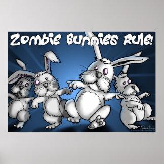 ゾンビのバニーの規則! ポスター