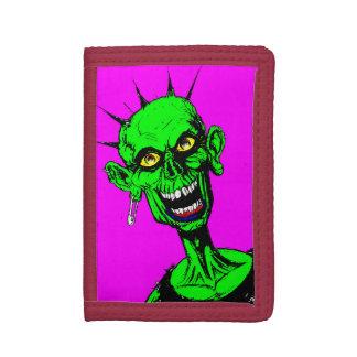 ゾンビのパンクの財布 ナイロン三つ折りウォレット