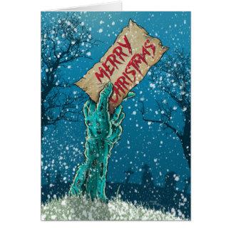 ゾンビのメリークリスマスの休日 カード