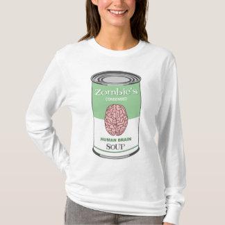 ゾンビの人間の脳スープ Tシャツ
