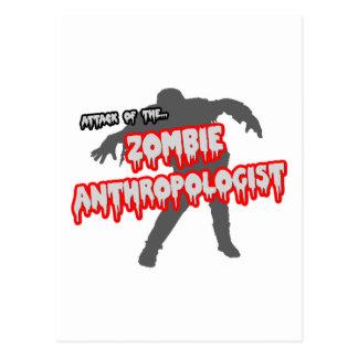 ゾンビの人類学者の攻撃 ポストカード