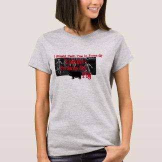 ゾンビの前の私のブタを救うために押します Tシャツ