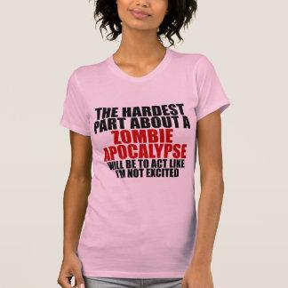 ゾンビの啓示の女性暗闇のTシャツ Tシャツ