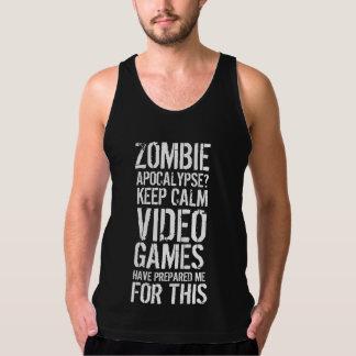 ゾンビの啓示-穏やかなビデオゲームのワイシャツを保って下さい タンクトップ