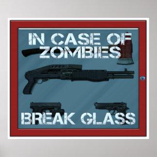 ゾンビの壊れ目ガラスの場合には ポスター
