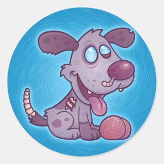 ゾンビの子犬 ラウンドシール