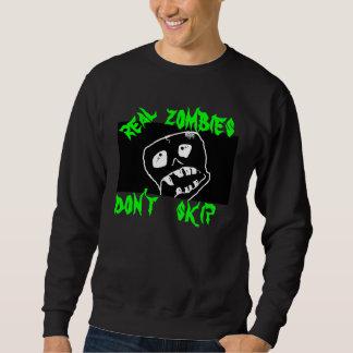 ゾンビの実質のゾンビはワイシャツのティーをとばしません スウェットシャツ