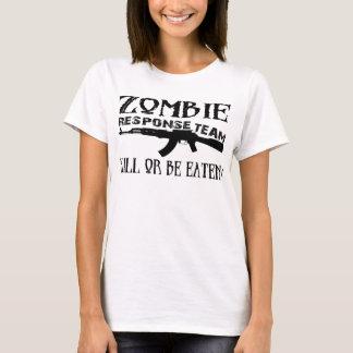 ゾンビの応答のチームギークのTシャツ Tシャツ