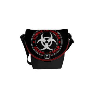 ゾンビの応答のチーム歩く生物危険 メッセンジャーバッグ