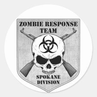 ゾンビの応答のチーム: スポケーン部 ラウンドシール