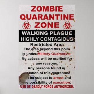 ゾンビの検疫の軍隊は署名します ポスター