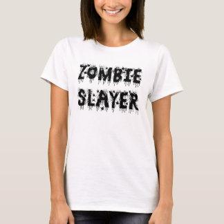 ゾンビの殺害者の女の子のTシャツ Tシャツ