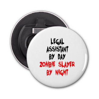 ゾンビの殺害者の弁護士の助手 ボタン型 ボトルオープナー