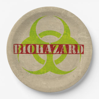 ゾンビの生物学的災害[有害物質]のハローウィンパーティの紙皿 ペーパープレート
