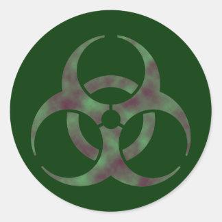 ゾンビの生物学的災害[有害物質]の記号のステッカー ラウンドシール