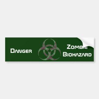 ゾンビの生物学的災害[有害物質]の記号 バンパーステッカー