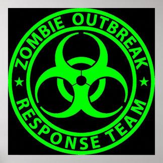 ゾンビの発生の応答のチームネオンの緑 ポスター