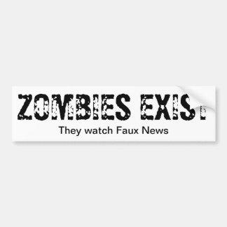 ゾンビの腕時計ののどのニュース バンパーステッカー