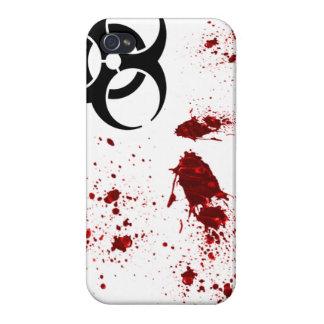 ゾンビの血の(ばちゃばちゃ)跳ねるの生物学的災害[有害物質]のiphone 4ケース iPhone 4 cover