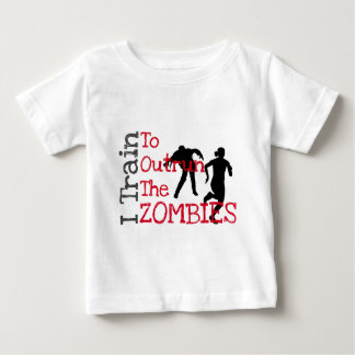 ゾンビの訓練(赤い) ベビーTシャツ