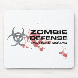 ゾンビの防衛戦術的な分隊のmousepadの白 マウスパッド