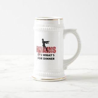 ゾンビの頭脳の夕食 ビールジョッキ