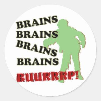 ゾンビの頭脳の頭脳の頭脳のげっぷ! ラウンドシール