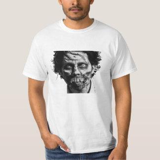 ゾンビの顔メンズTシャツ Tシャツ